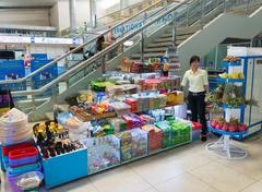 souvenir shop at Cam Ranh international airport, Vietnam - stock photo