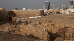 Stock Video Footage of View of Manama City from Qal'at Al-Bahrain Fort, Bahrain 2 ok