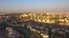 JERUSALEM, ISRAEL - Smooth aerial panning view of New Jerusalem Stock Footage