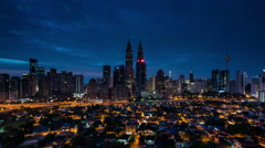 Time Lapse: Kuala Lumpur Sunrise Time Lapse. Kampung Baru is seen as foreground. Stock Footage