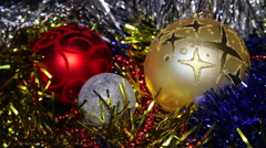 Christmas New Year Balls background_1 - stock footage