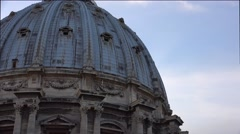 ULTRA HD 4K real time shot,The balcony of Dome at St. Peters Basilica, Rome - stock footage