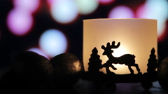 Christmas New Year Deer light Background - stock footage