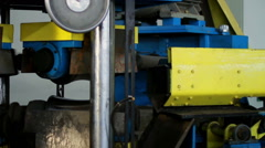 Tube rolling machine at the factory. Production process at plant Stock Footage
