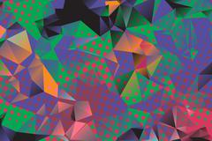 Stock Illustration of Low poly background with many dots