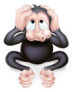Hear no Evil Monkey - stock illustration