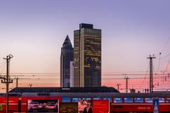 Frankfurt am main train station Stock Photos