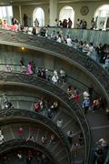 Spiral stairs in the Vatican Museums Stock Photos