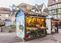 Traditional Kisok in an Alsatian Christmas Market - stock photo