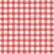 Red and white gingham tablecloth texture seamless Stock Illustration