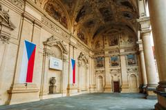 Senate of Czech Republic in Prague - stock photo