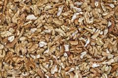 Kernels of walnut - the source of vitamins and minerals - stock photo