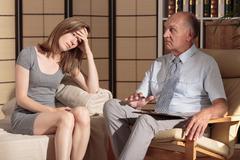 Therapist's concern Stock Photos