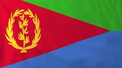 Flag of Eritrea waving in the wind, seemless loop animation - stock footage