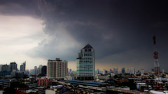 Storm building up over bangkok timelapse wide angle Stock Footage