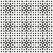 Stock Illustration of Geometric line monochrome abstract hipster seamless pattern with square, cube