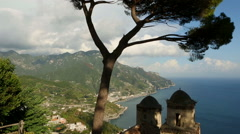 Ravello view panorama Stock Footage