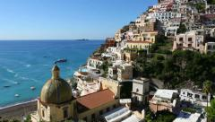 Positano city Italy view Stock Footage