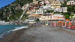 Positano sea Amalfi coast - stock footage