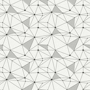 Geometric line hipster seamless pattern with triangle, circles. Reticulated - stock illustration