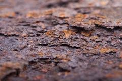 Rust closeup. Structure corrosion, texture - stock photo