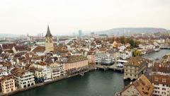Zurich top view Stock Footage