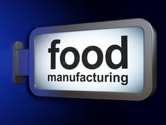 Industry concept: Food Manufacturing on billboard background Stock Illustration