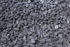 Heap of coal full frame Stock Photos