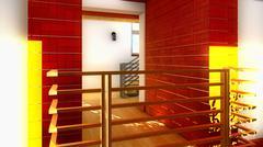 Modern staircase - interior Stock Illustration