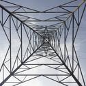 Stock Photo of Electricity Pylon low angle