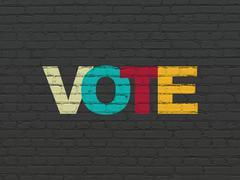 Politics concept: Vote on wall background - stock illustration