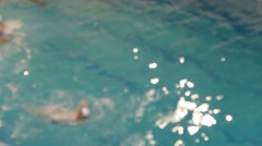 Water Polo, Attack, Swimmers, defocused background Stock Footage