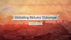 Unfolding Pictures Slideshow Stock After Effects