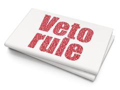 Politics concept: Veto Rule on Blank Newspaper background Stock Illustration