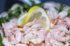 Shrimp on a Sandwich Layer Cake - stock photo