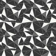 Geometric line hipster seamless pattern with triangle, circles. Reticulated Stock Illustration