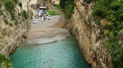 Fiorde FUrore Italy beach - stock footage