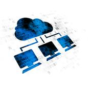 Cloud technology concept: Cloud Network on Digital background Piirros