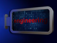 Stock Illustration of Science concept: Engineering on billboard background