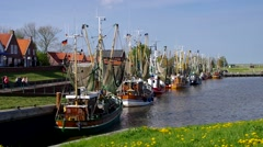 Greetsiel harbour Stock Footage