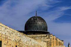 Stock Photo of Al Aqsa Mosque,  third holiest site in Islam on  Temple Mount at the Old City