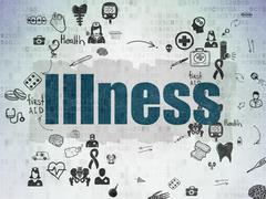 Health concept: Illness on Digital Paper background - stock illustration