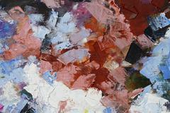 Colorful oil paint texture closeup , beautiful background art Stock Photos
