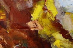 colorful oil paint texture closeup , beautiful background art - stock photo