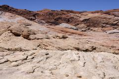 Stock Photo of Coloured sandstone formations Valley of Fire State Park Nevada USA North America