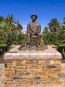 Hosea Kutako Memorial 1870 1970 Head of State Parliament Garden Windhoek - stock photo