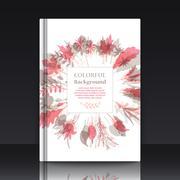 Stock Illustration of Autumnal round frame. Wreath of autumn leaves