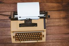View of an old typewriter Stock Photos