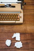 View of an old typewriter and paper Stock Photos