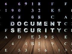 Safety concept: Document Security in grunge dark room Piirros